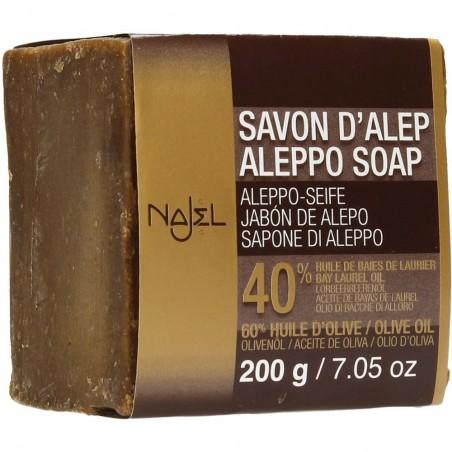 sapone d'aleppo 40% bio