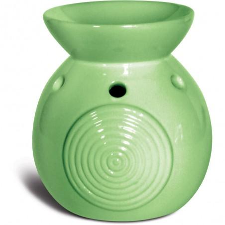 brucia essenze in ceramica etnico verde
