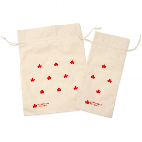 sacchetto in cotone grande rosso