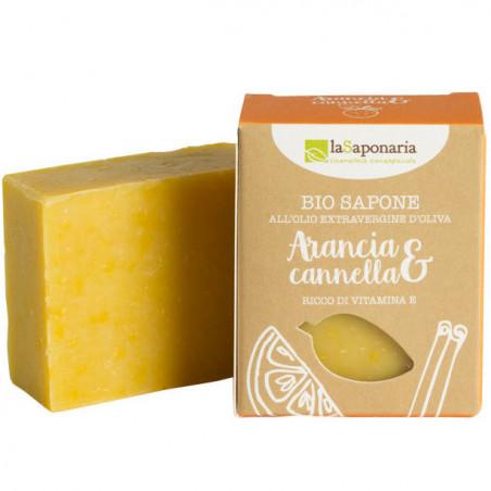 sapone all'olio d'oliva con arancia e cannella
