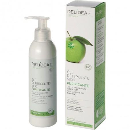 gel detergente viso purificante mela e bambù