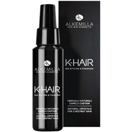 cristalli naturali capelli castani k-hair