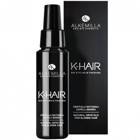 cristalli naturali capelli biondi k-hair