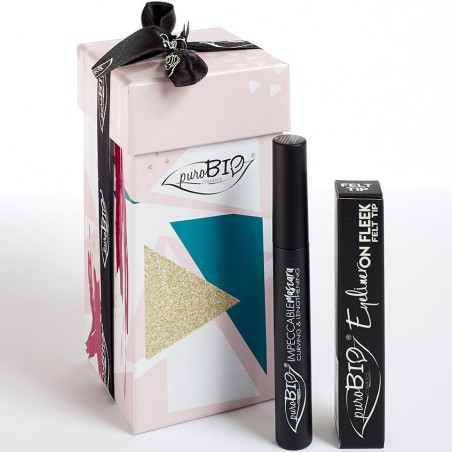 cofanetto regalo B - eyeliner on fleek felt tip + mascara impeccable extra black