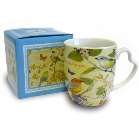 mug birds giallo