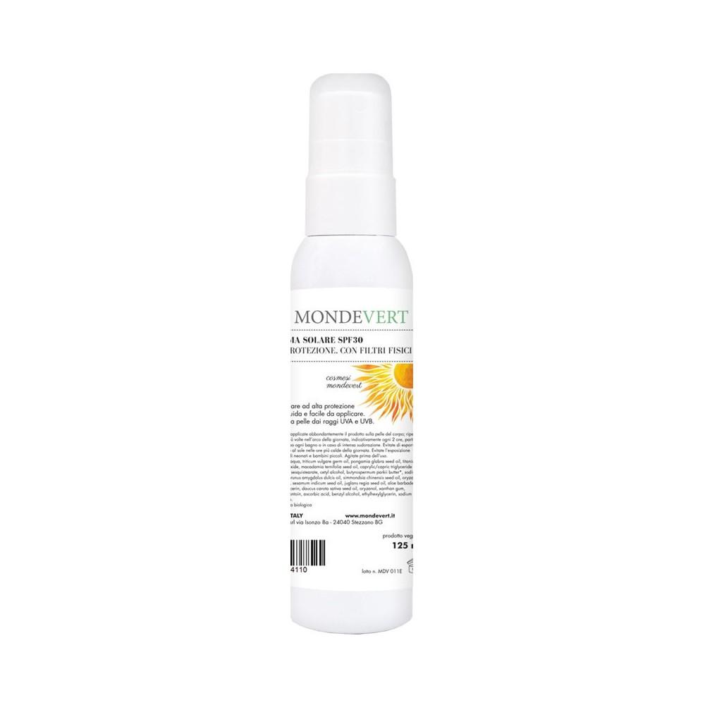 MondeVert Crema solare SPF 30 alta protezione con filtri..