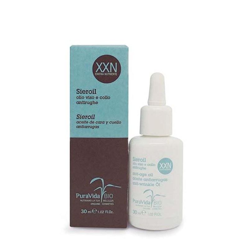 Puravida Bio Sieroil olio viso e collo antirughe XXN exxtra nutriente