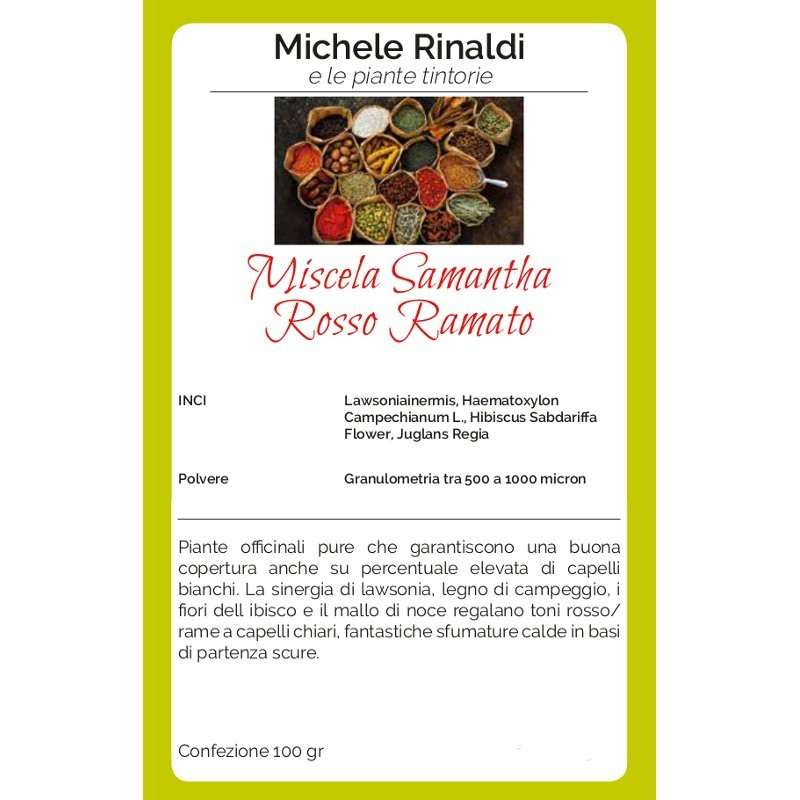 Michele Rinaldi Miscela Samantha rosso ramato