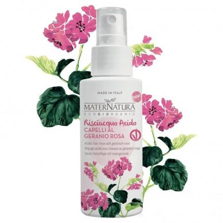 risciacquo acido capelli al geranio rosa