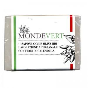 MondeVert Sapone vegetale goji e oliva bio