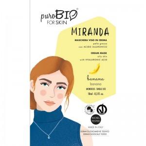 Purobio Maschera viso in crema Banana Miranda