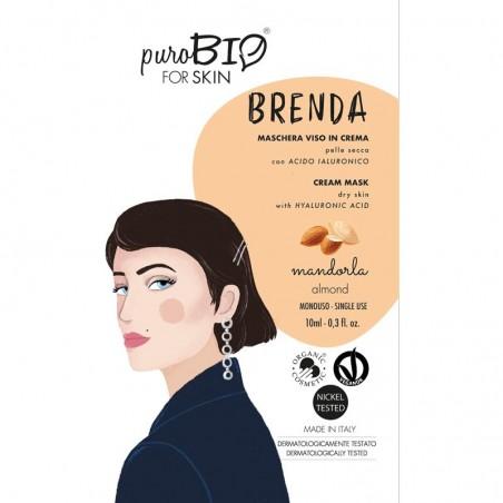 maschera viso in crema pelle secca  Brenda