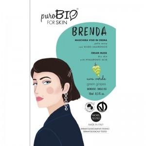 Purobio Maschera viso in crema Uva  Brenda