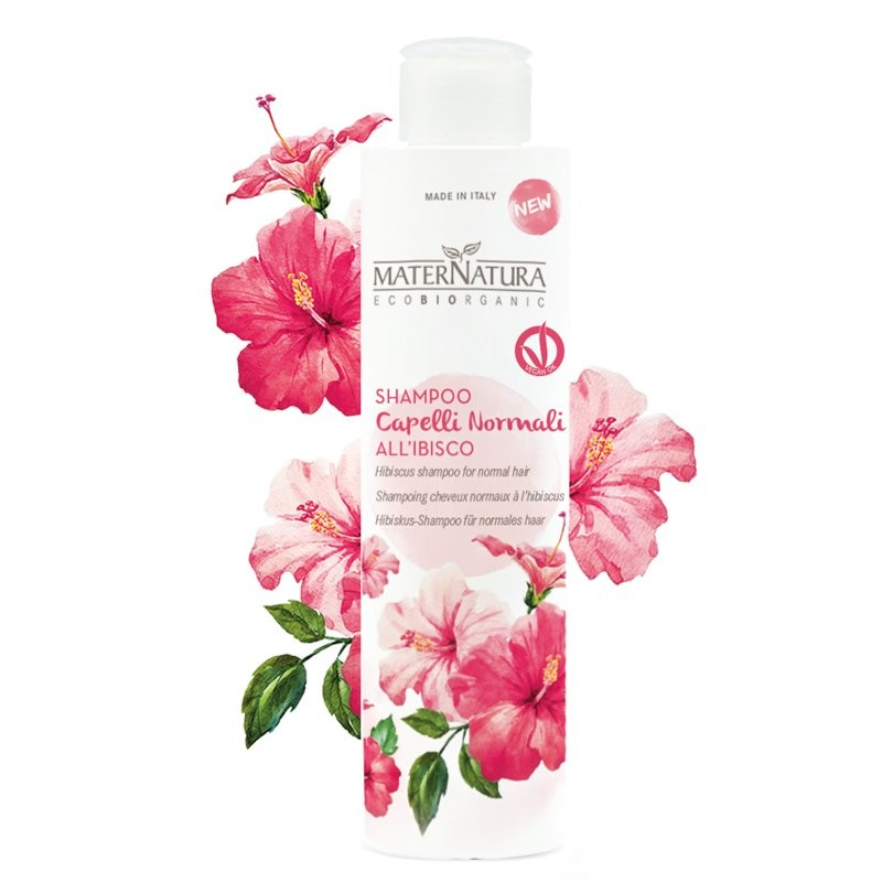 MaterNatura Shampoo capelli normali all'ibisco