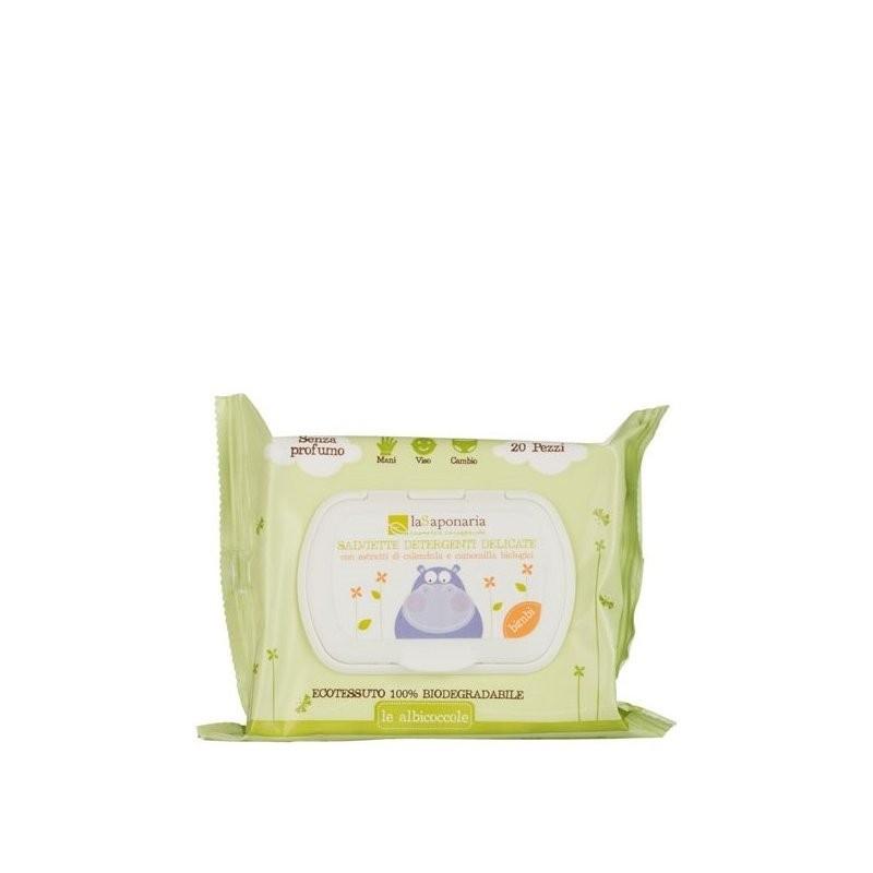 La Saponaria Salviette detergenti delicate