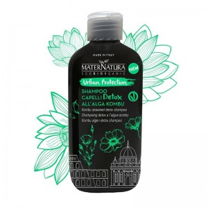 MaterNatura Shampoo capelli detox all'alga kombu