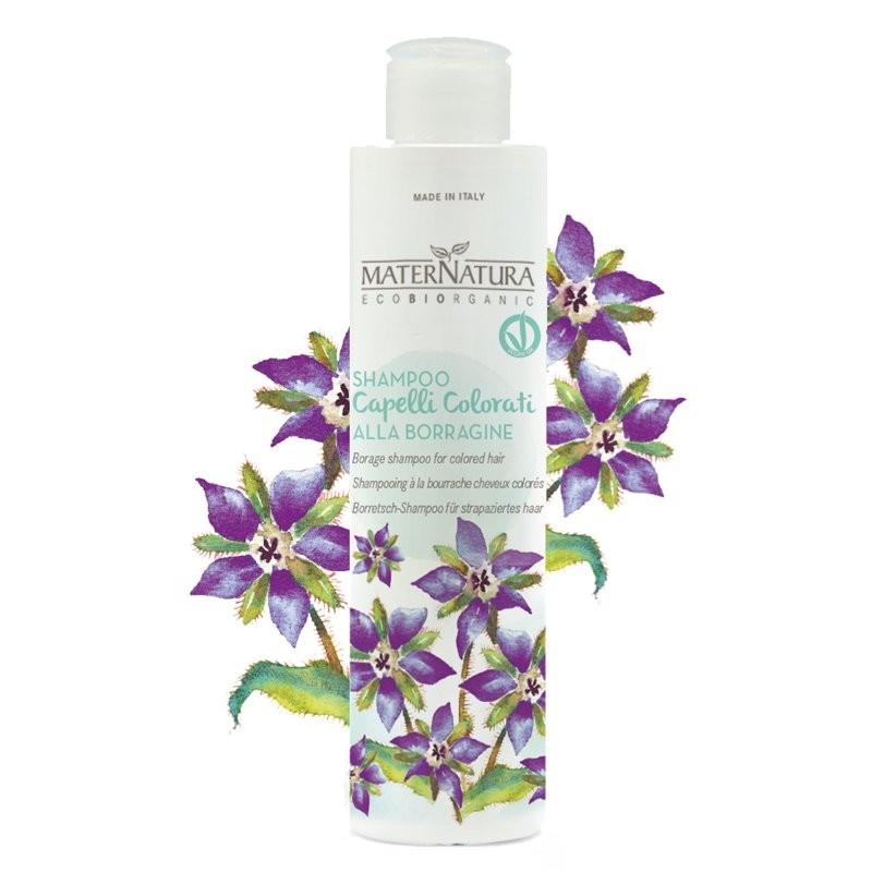 MaterNatura Shampoo alla borragine per capelli chimicamente trattati