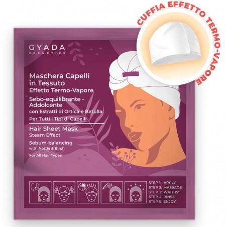 maschera capelli in tessuto n. 2 - sebo-equilibrante e addolcente