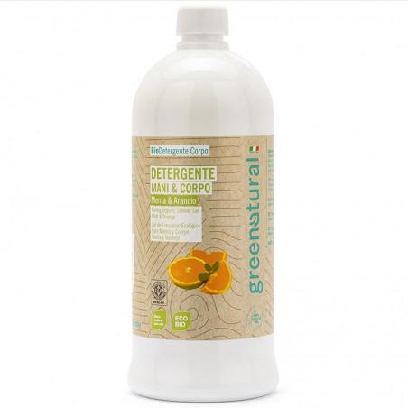 detergente mani e corpo menta e arancio - 1 Litro
