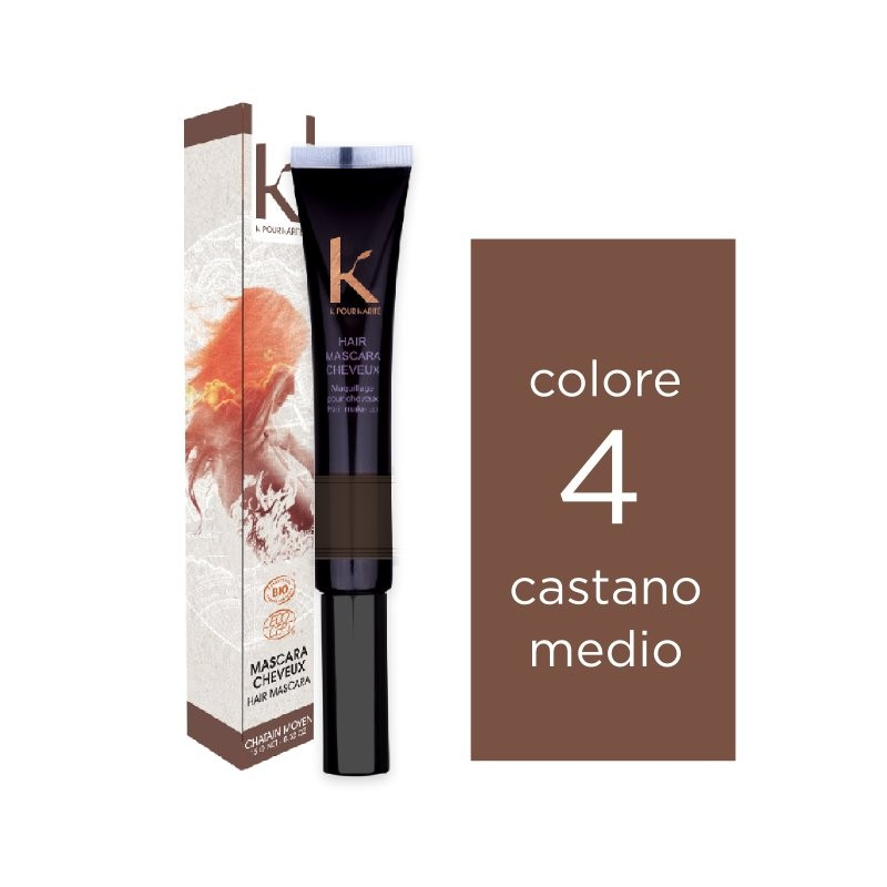K pour karité Mascara per capelli n. 4 castano medio