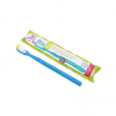 spazzolino con testina ricaricabile blu - setole morbide