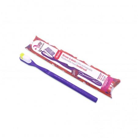 spazzolino con testina ricaricabile viola - setole morbide