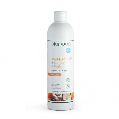 bagnodoccia detergente delicato albicocca e olio di argan