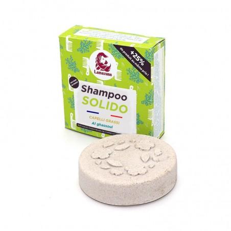 shampoo solido per capelli grassi al ghassoul